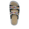 Clara Black slide sandal with dual adjustable straps on classic rocker outsole - CLA-611_S4