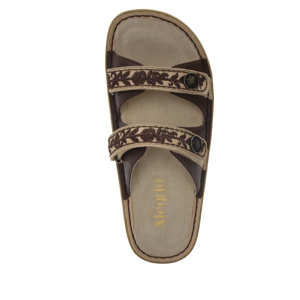 Clara Cocoa slide sandal with dual adjustable straps on classic rocker outsole - CLA-612_S4 (2038694674486)