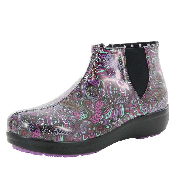 Climatease weather resistant Whack A Doodle Purple Boot with Q-sport comfort outsole. CLI-793_S1