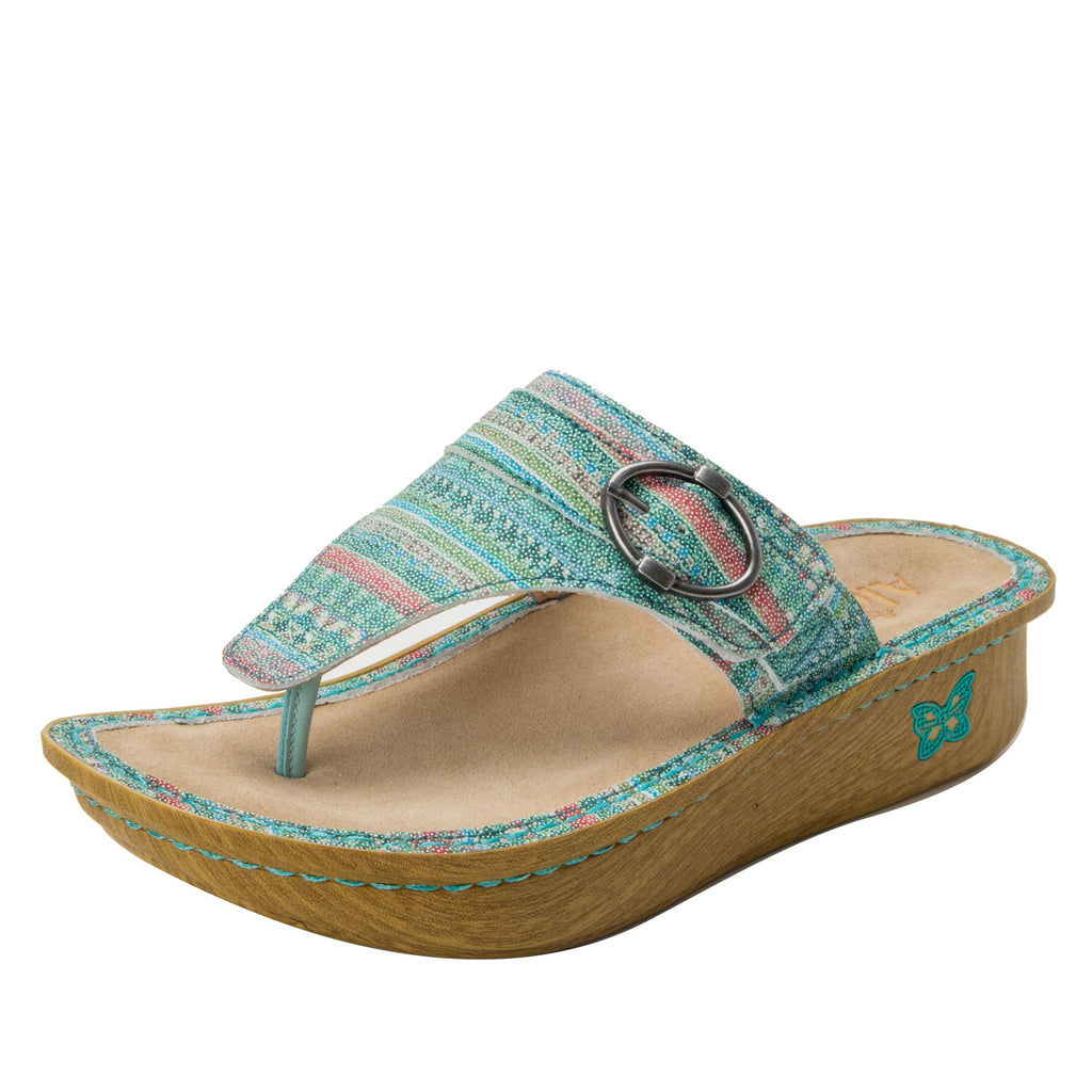 Codi Seascape thong style sandal on classic rocker outsole - COD-168_S1