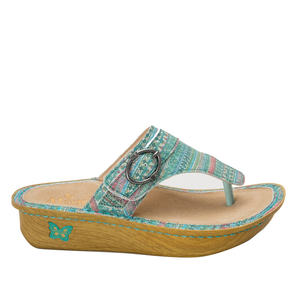Codi Seascape thong style sandal on classic rocker outsole - COD-168_S2