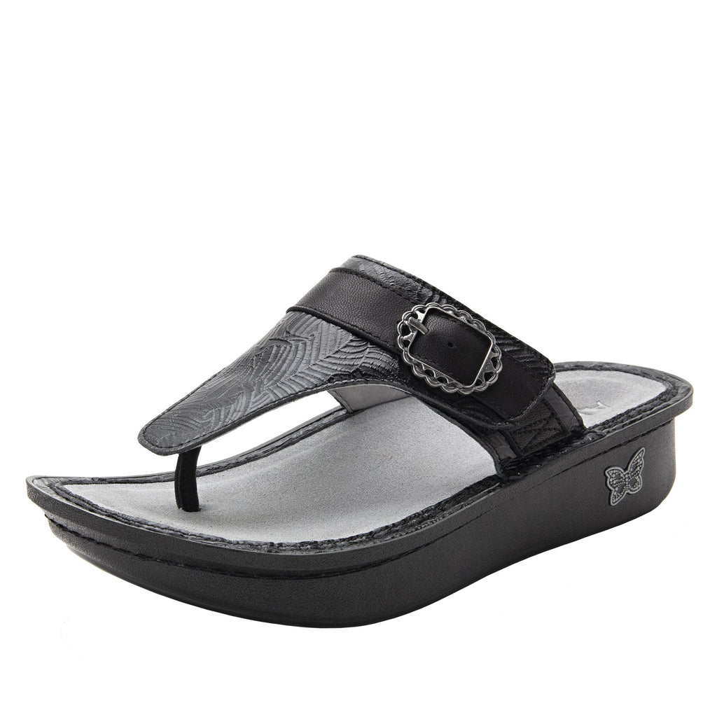 Codi Tobacco Tar thong style sandal on classic rocker outsole - COD-520_S1