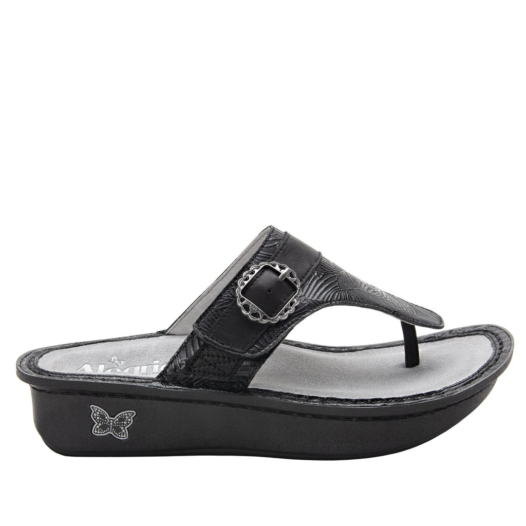 Codi Tobacco Tar thong style sandal on classic rocker outsole - COD-520_S2