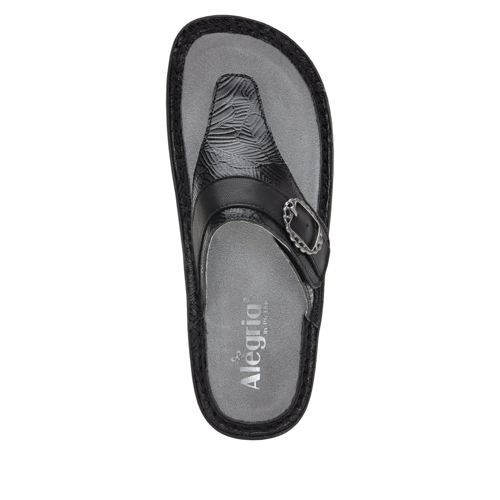 Codi Tobacco Tar thong style sandal on classic rocker outsole - COD-520_S4