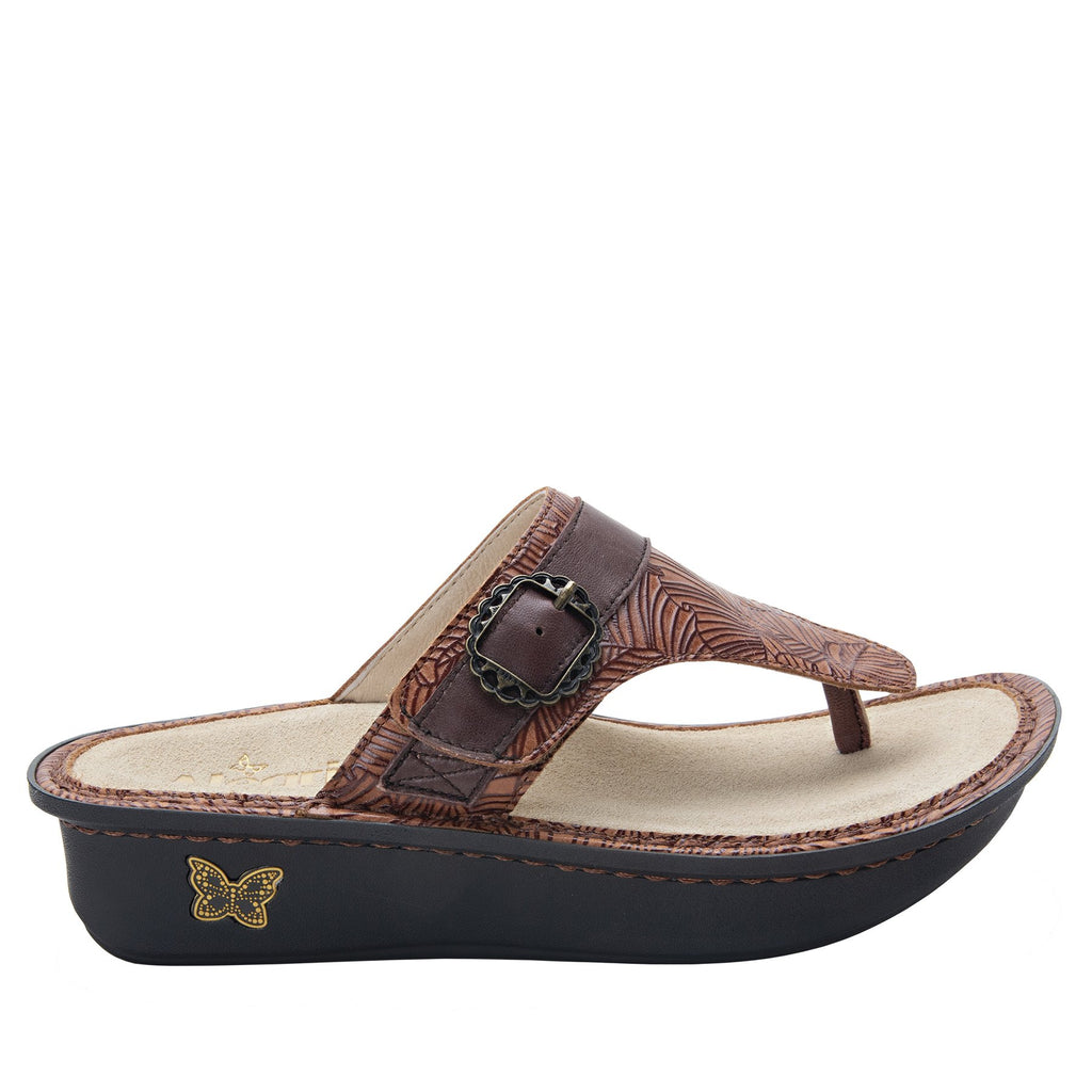 Codi Tobacco Leaf thong style sandal on classic rocker outsole - COD-849_S2