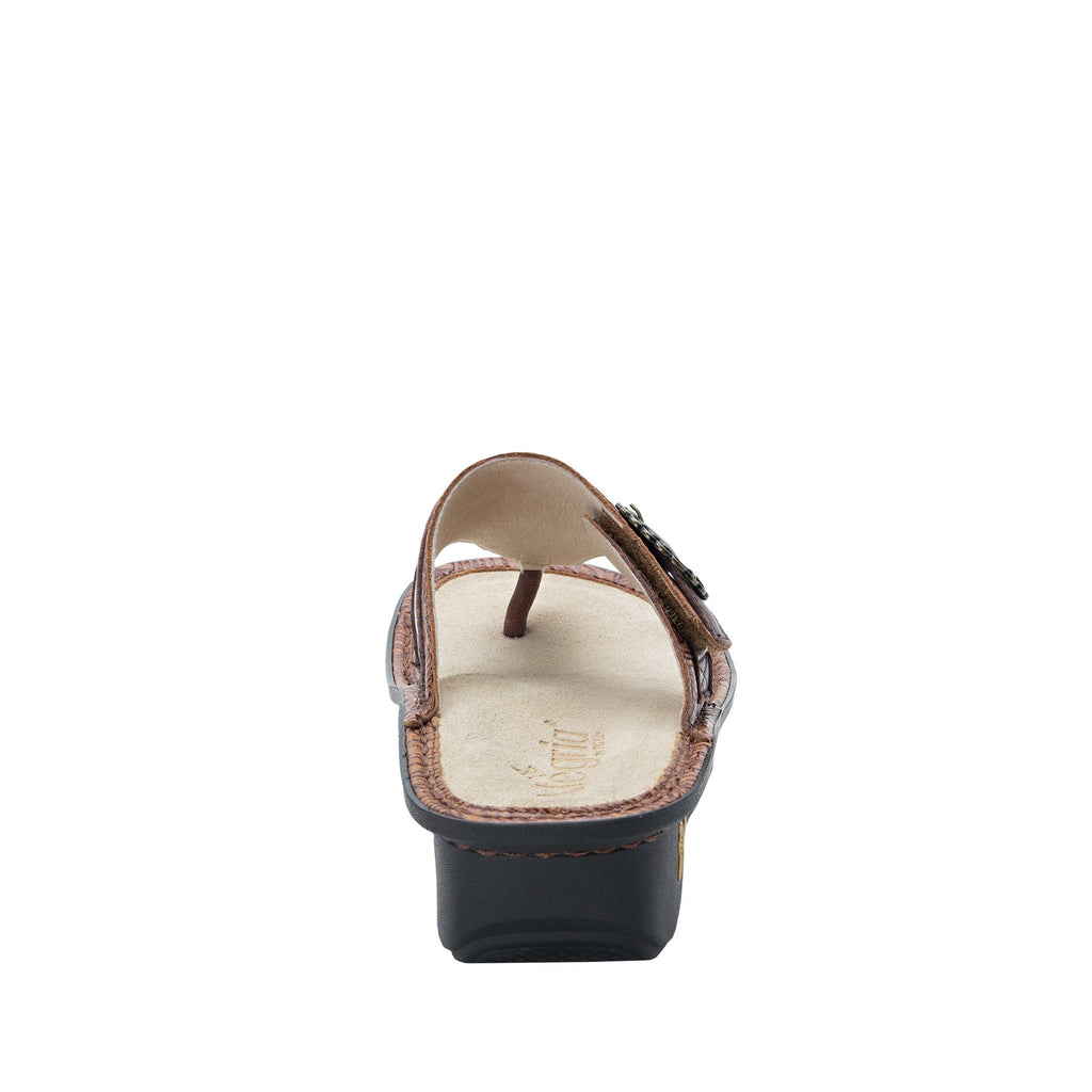 Codi Tobacco Leaf thong style sandal on classic rocker outsole - COD-849_S3