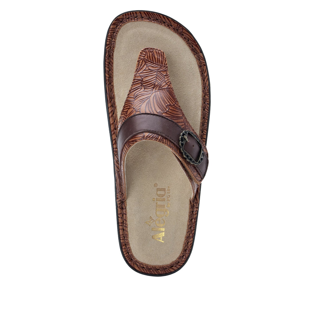 Codi Tobacco Leaf thong style sandal on classic rocker outsole - COD-849_S4