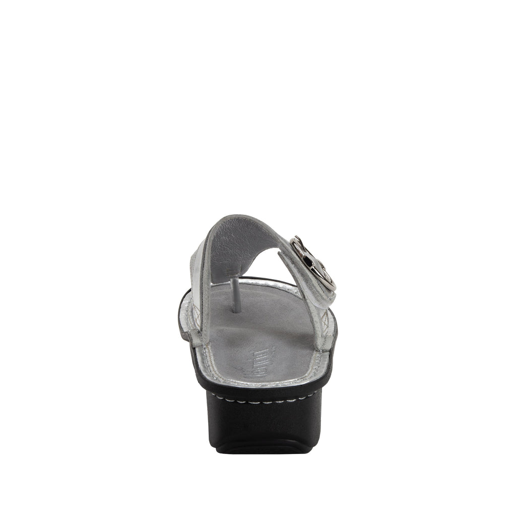 Codi White Sheen thong style sandal on classic rocker outsole - COD-886_S3 (1949240983606)
