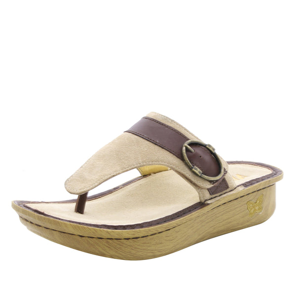 Codi Sand thong style sandal on classic rocker outsole - COD-680_S1