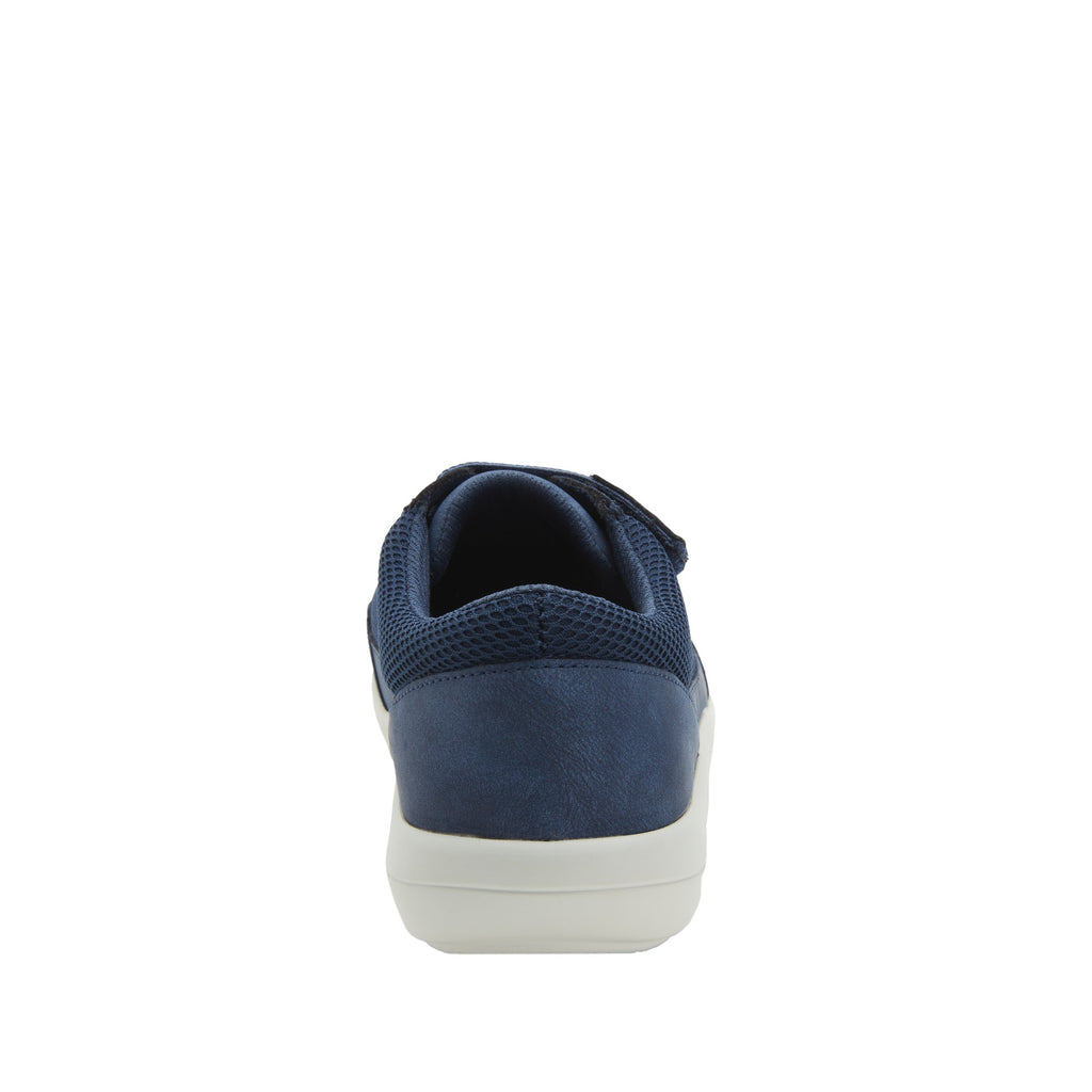 Dahlia Blue Relaxed sport rocker shoe with dual density polyurethane outsole and adjustable elastic hook-and-loop straps. DAH-7889_S3