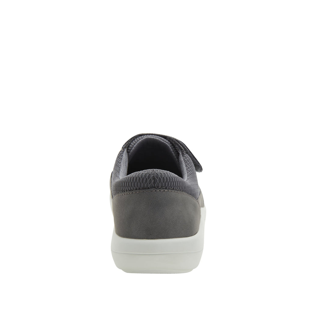 Dahlia Grey Relaxed sport rocker shoe with dual density polyurethane outsole and adjustable elastic hook-and-loop straps. DAH-7889_S3