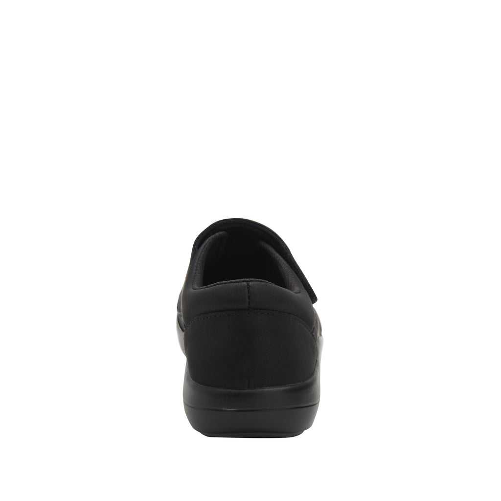 Daisie Black Softie sport rocker shoe with dual density polyurethane outsole and adjustable hook-and-loop strap. DAI-7873_S3