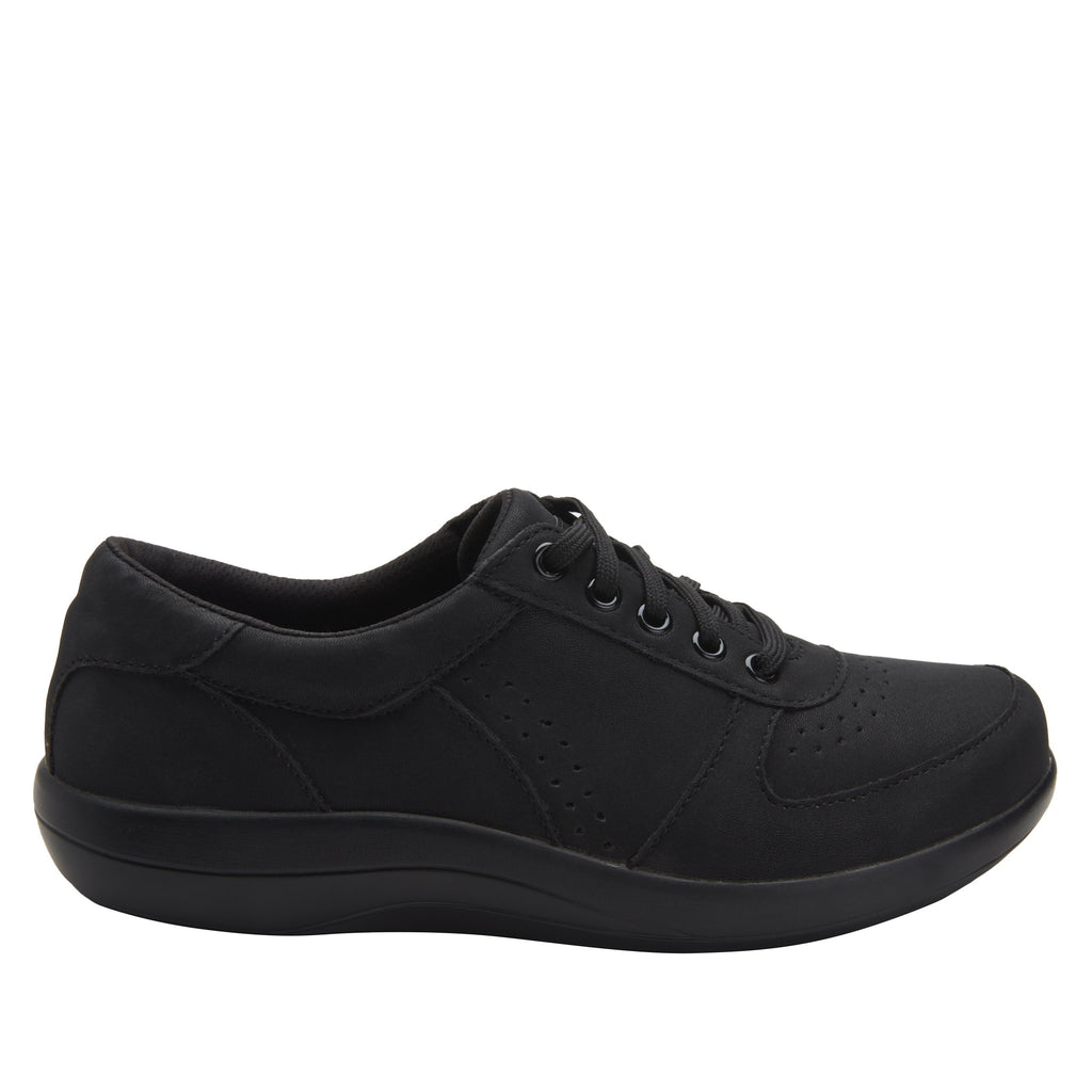 Daphne Black Softie sport rocker shoe with dual density polyurethane outsole and laces for adjustability. DAP-7873_S2