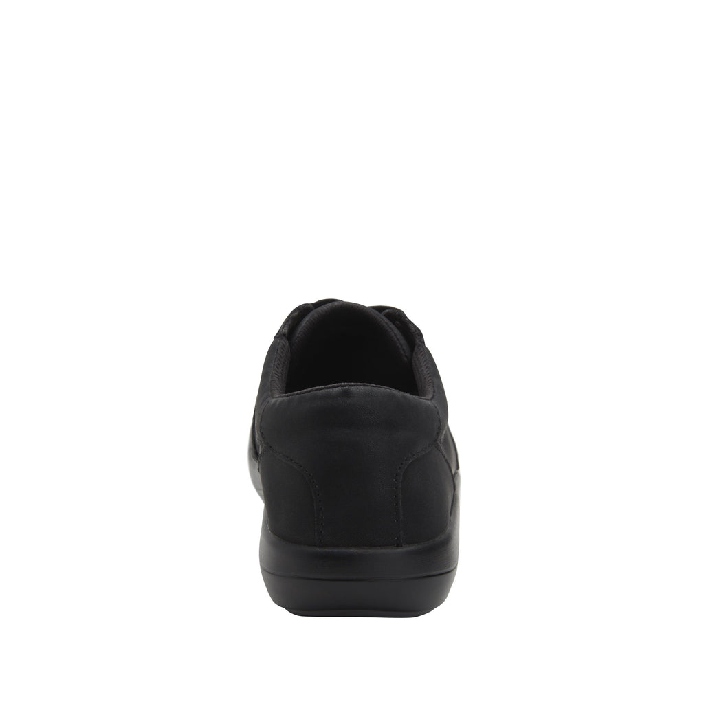 Daphne Black Softie sport rocker shoe with dual density polyurethane outsole and laces for adjustability. DAP-7873_S3