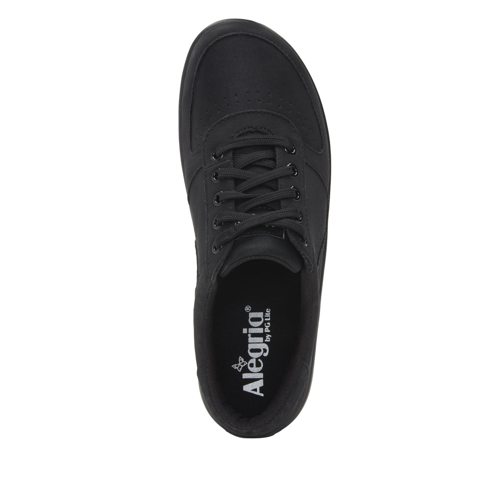 Daphne Black Softie sport rocker shoe with dual density polyurethane outsole and laces for adjustability. DAP-7873_S4