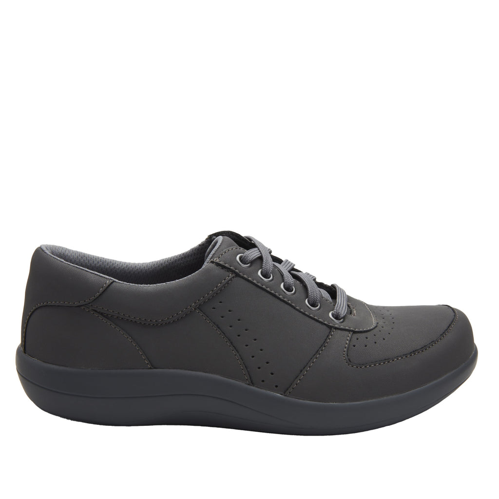 Daphne Grey Softie sport rocker shoe with dual density polyurethane outsole and laces for adjustability. DAP-7898_S2