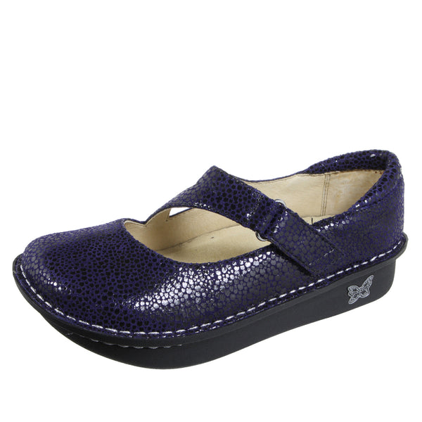 Dayna Blueberry Dottie Professional Shoe - Alegria Shoes