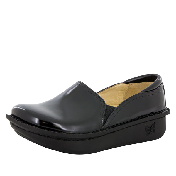 Debra Black Waxy Shoe - Alegria Shoes - 1