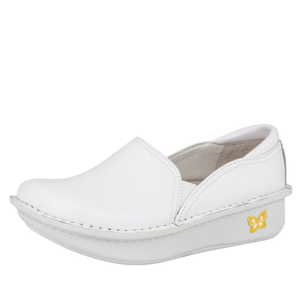 Debra White Nappa Shoe - Alegria Shoes