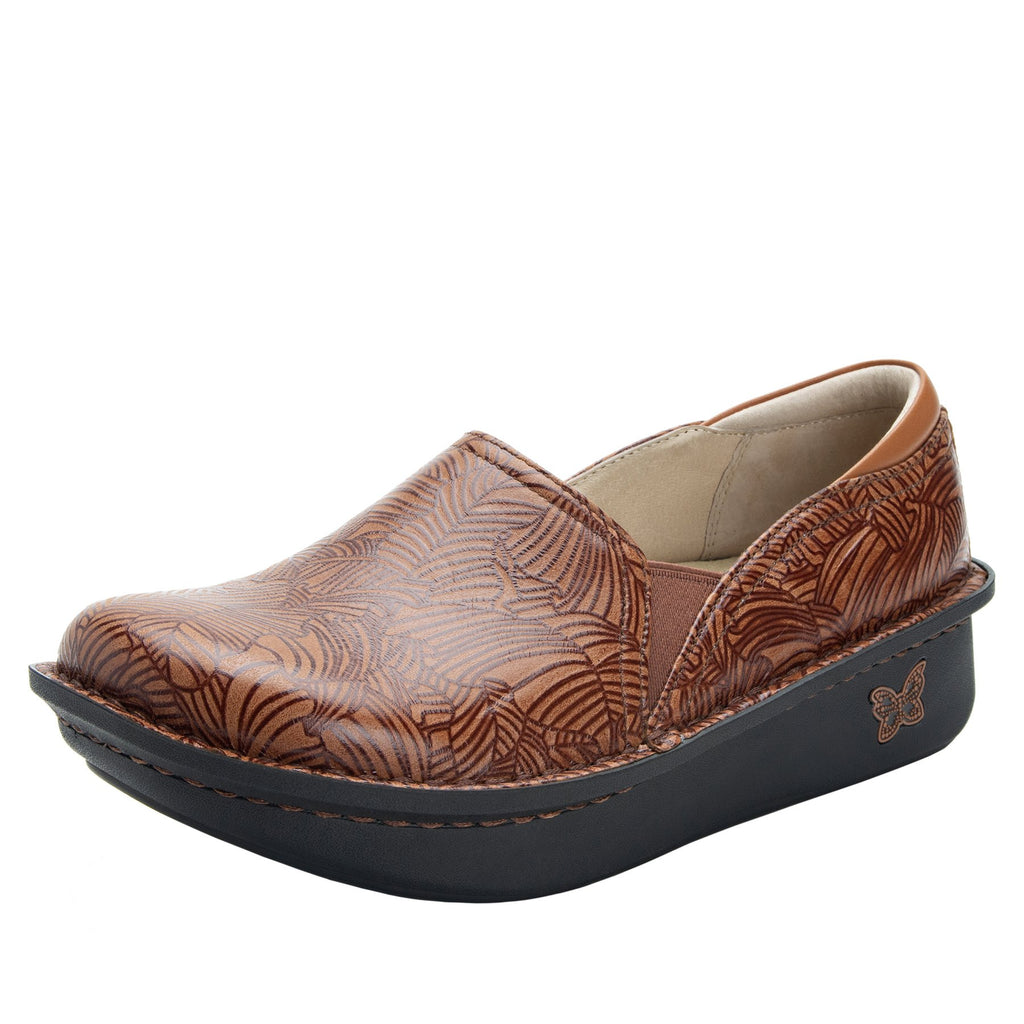 Debra Tobacco Leaf slip-on shoe with Classic Rocker Bottom - DEB-849_S1