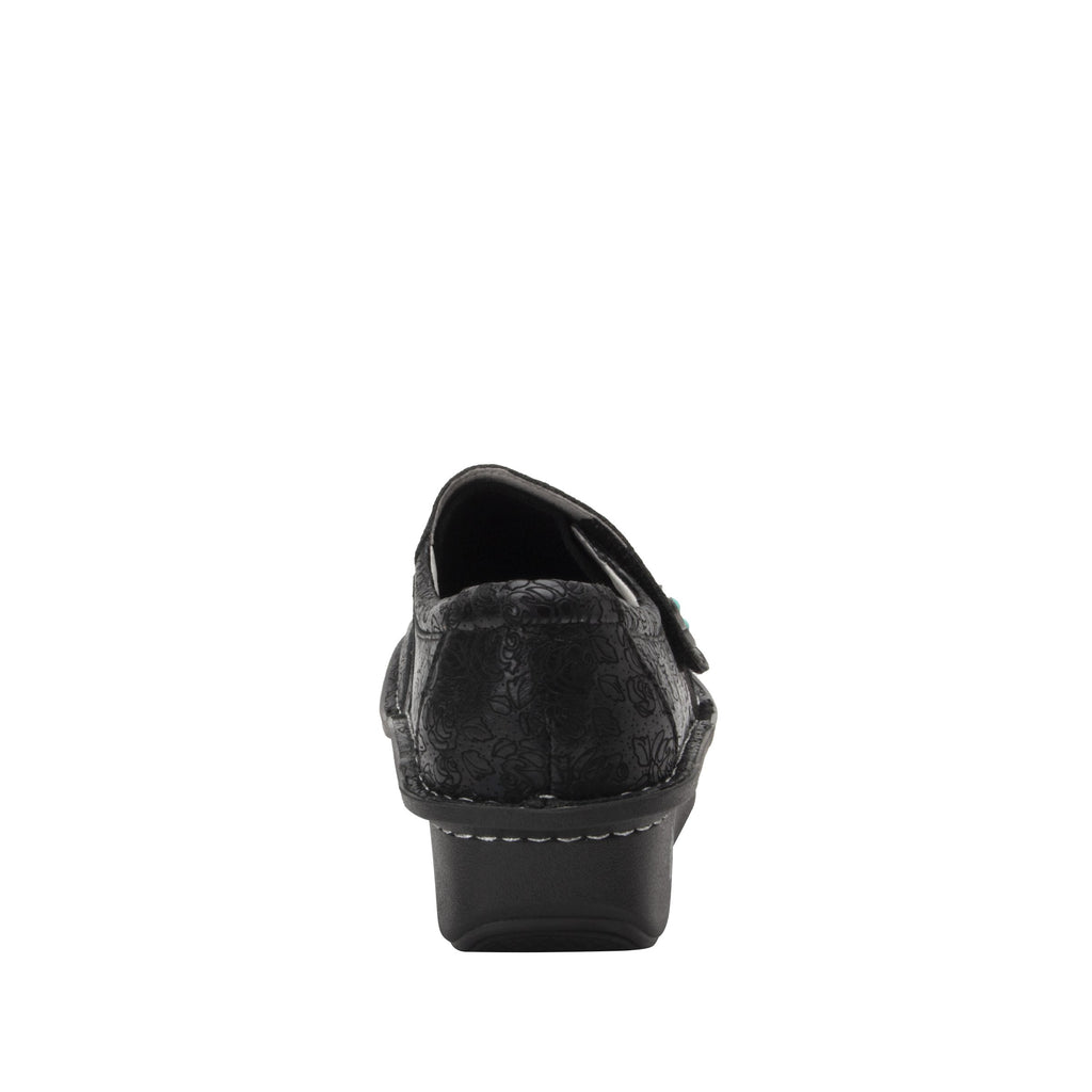 Deliah Ink Impressions shoe with adjustable hook and loop strap on Classic Rocker outsole- DEI-7825_S3