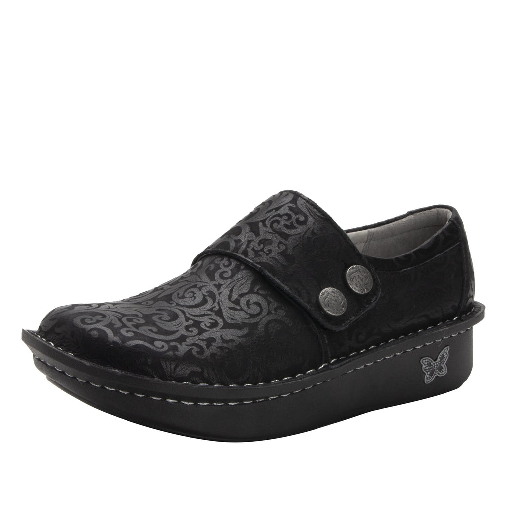 Deliah Ivy shoe with adjustable hook and loop strap on Classic Rocker outsole- DEL-7715_S1