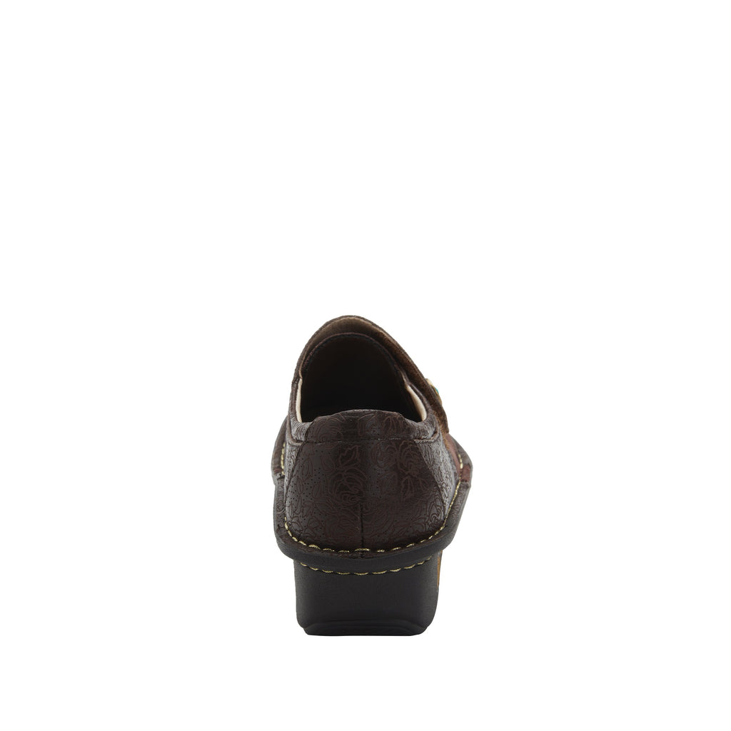 Deliah Cocoa Impressions shoe with adjustable hook and loop strap on Classic Rocker outsole- DEI-7824_S3
