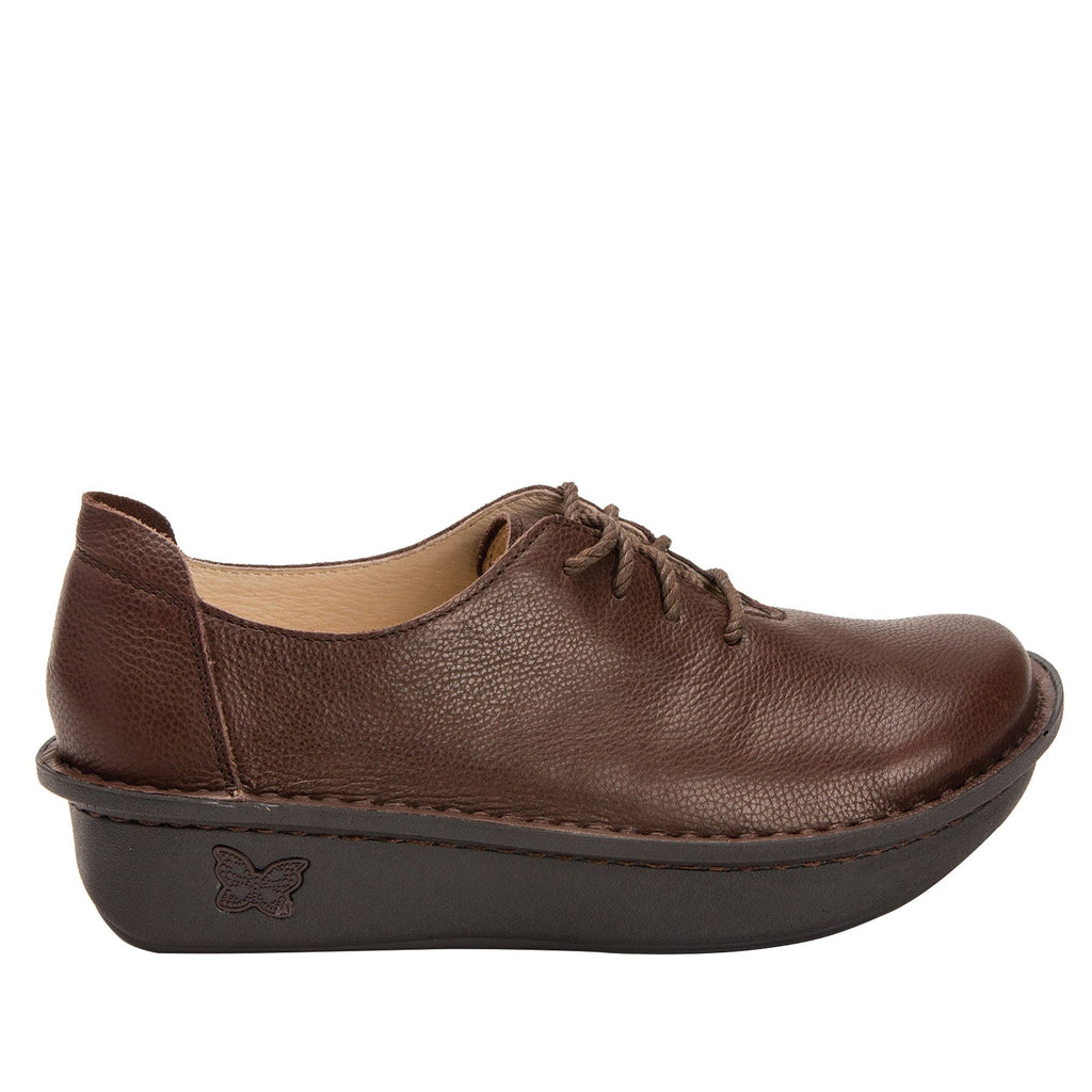 Dillyn Mocha lace up shoes on classic rocker outsole - DIL-189_S2