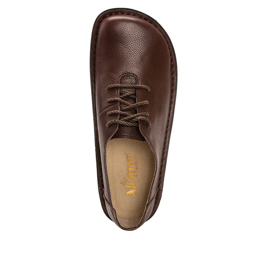 Dillyn Mocha lace up shoes on classic rocker outsole - DIL-189_S4 (4167290093622)