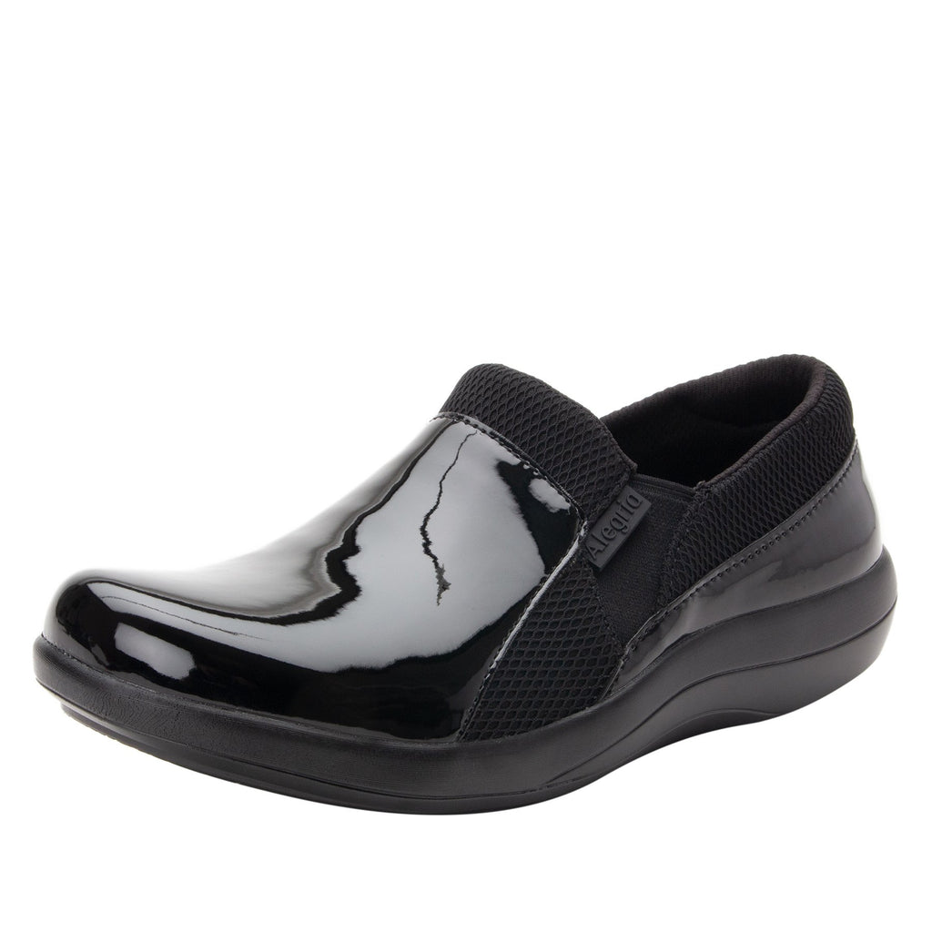 Duette Black Patent sport rocker professional shoe with dual density polyurethane outsole. DUE-101_S1