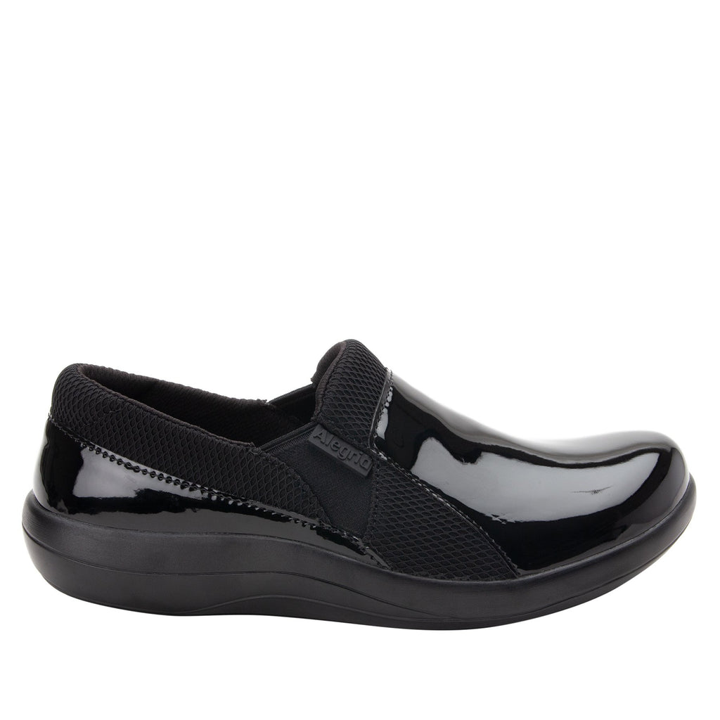 Duette Black Patent sport rocker professional shoe with dual density polyurethane outsole. DUE-101_S2
