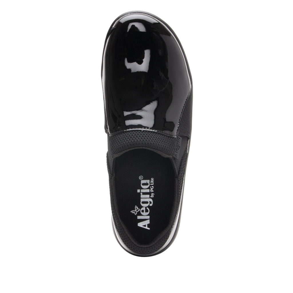 Duette Black Patent sport rocker professional shoe with dual density polyurethane outsole. DUE-101_S4