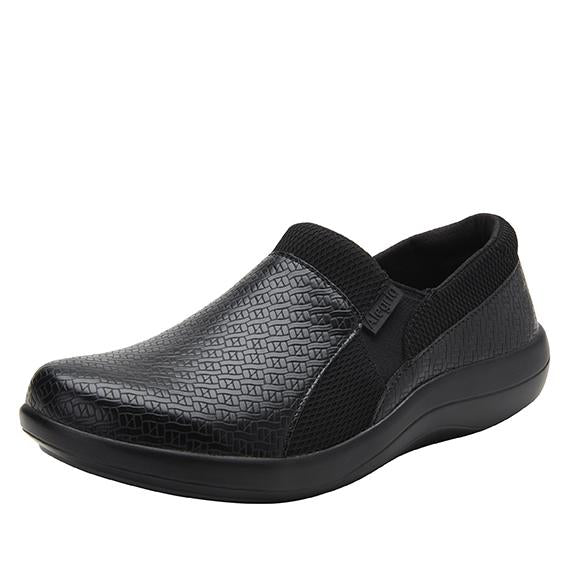 Duette Black Woven sport rocker professional shoe with dual density polyurethane outsole. DUE-7883_S1