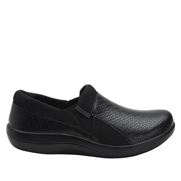 Duette Black Woven sport rocker professional shoe with dual density polyurethane outsole. DUE-7883_S2