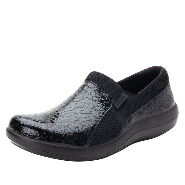 Duette Flourish Black sport rocker professional shoe with dual density polyurethane outsole. DUE-955_S1