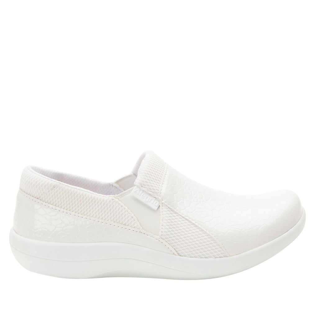 Duette Flourish White sport rocker professional shoe with dual density polyurethane outsole. DUE-956_S2 (2298577387574)