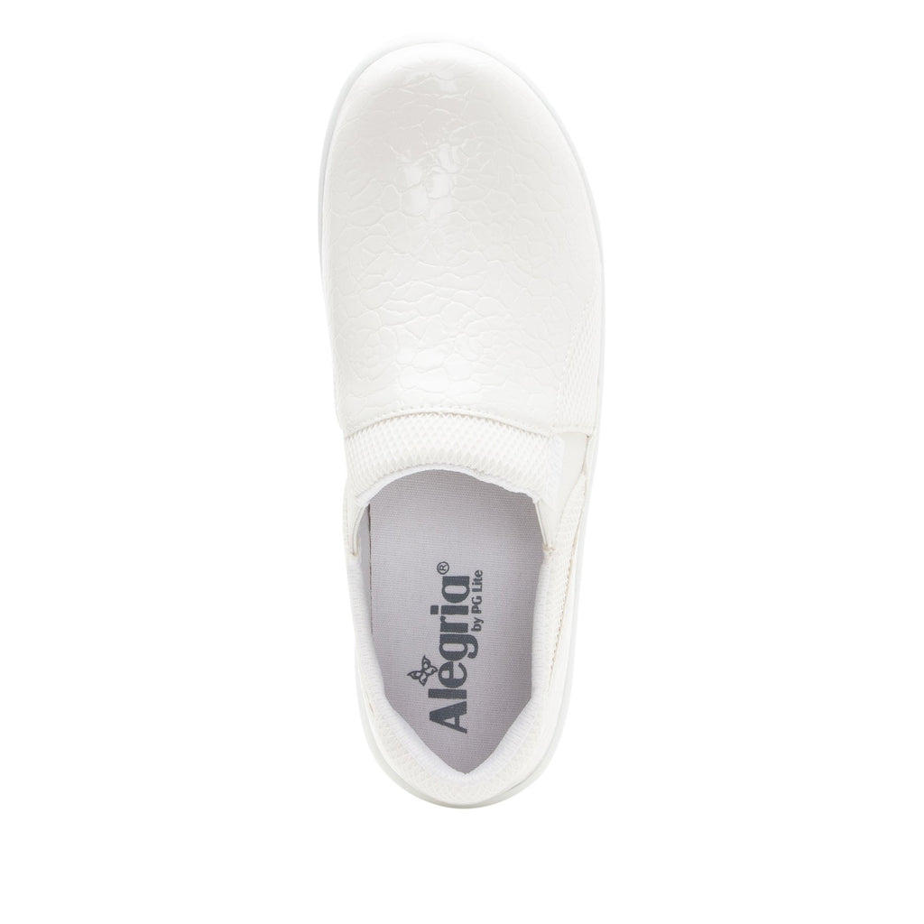 Duette Flourish White sport rocker professional shoe with dual density polyurethane outsole. DUE-956_S4