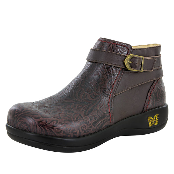 Dylan Molasses Tooled Boot - Alegria Shoes - 1