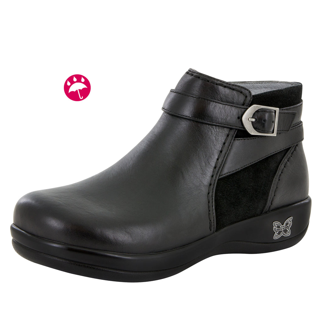 Dylan Black Nappa Water-Resistant Boot - Alegria Shoes - 1