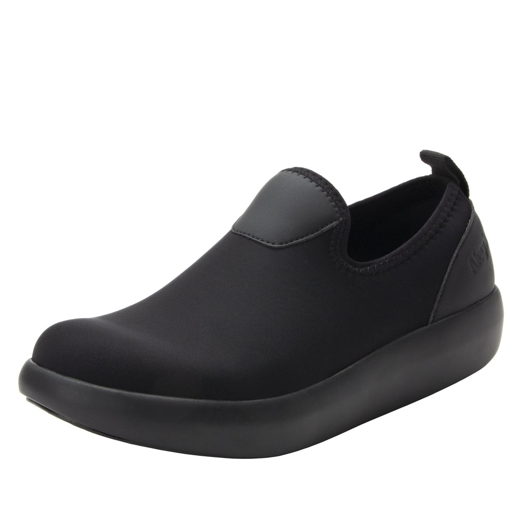 Eden Black Dream Fit™ upper slip on style shoe with non-flexing rocker outsole - EDE-101_S1