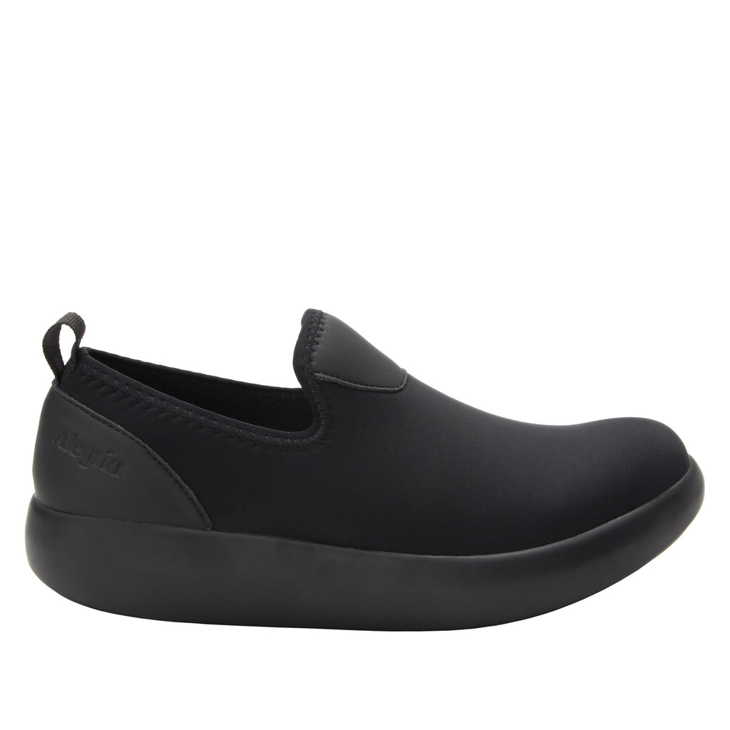 Eden Black Dream Fit™ upper slip on style shoe with non-flexing rocker outsole - EDE-101_S2