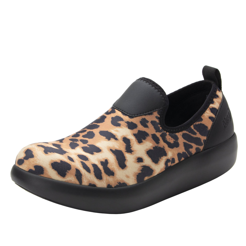 Eden Leopard Dream Fit™ upper slip on style shoe with non-flexing rocker outsole - EDE-402_S1