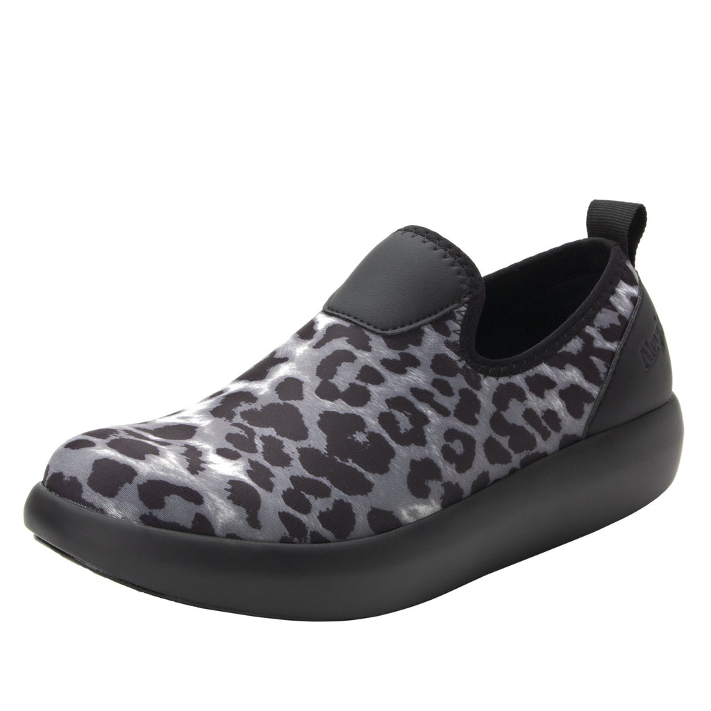 Eden White Leopard Dream Fit™ upper slip on style shoe with non-flexing rocker outsole - EDE-406_S1