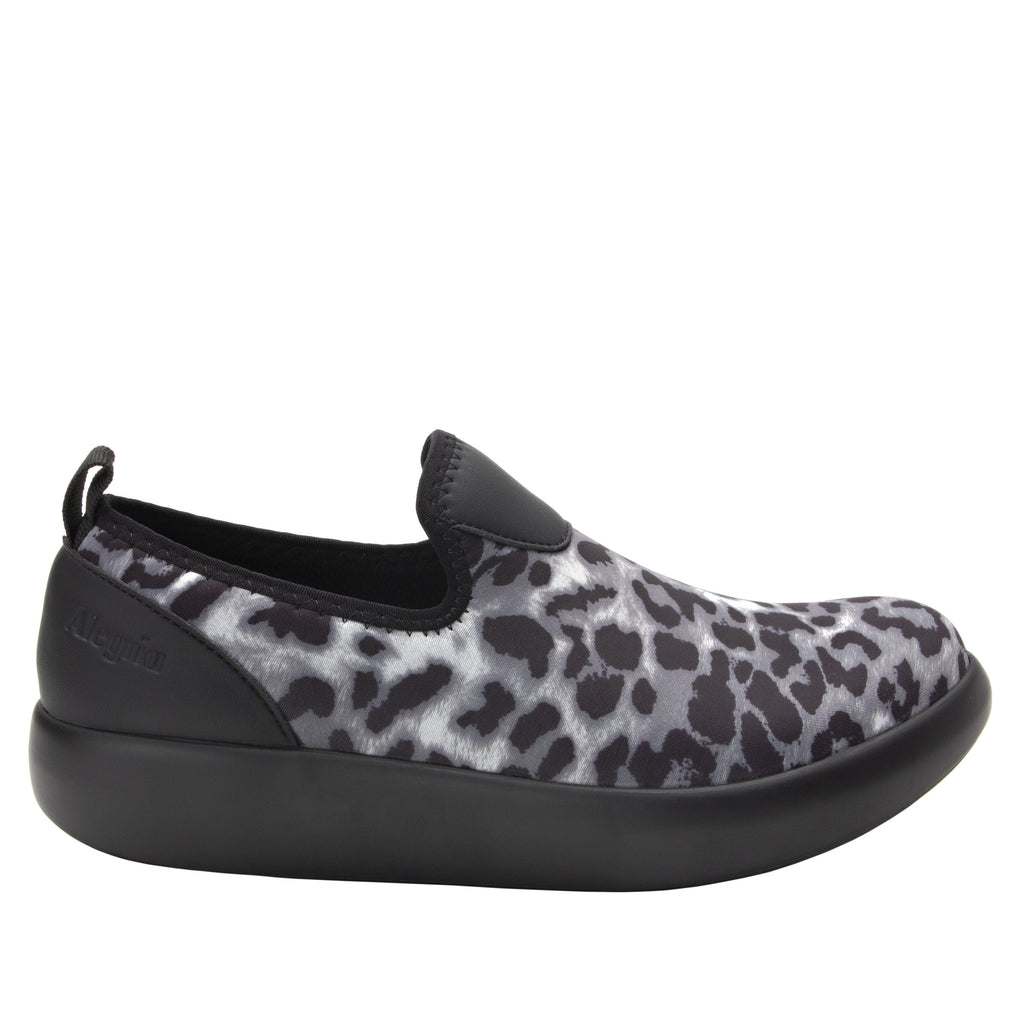 Eden White Leopard Dream Fit™ upper slip on style shoe with non-flexing rocker outsole - EDE-406_S2