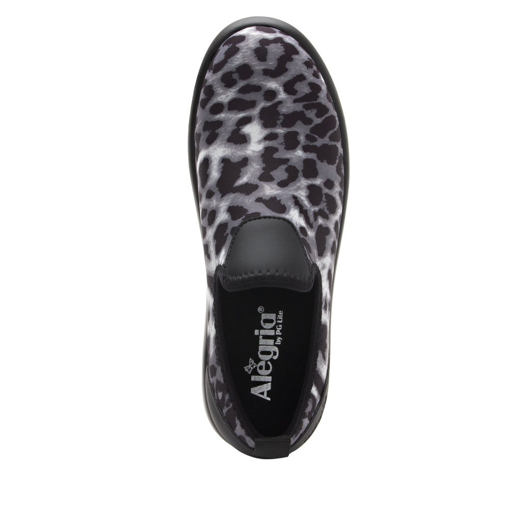 Eden White Leopard Dream Fit™ upper slip on style shoe with non-flexing rocker outsole - EDE-406_S4