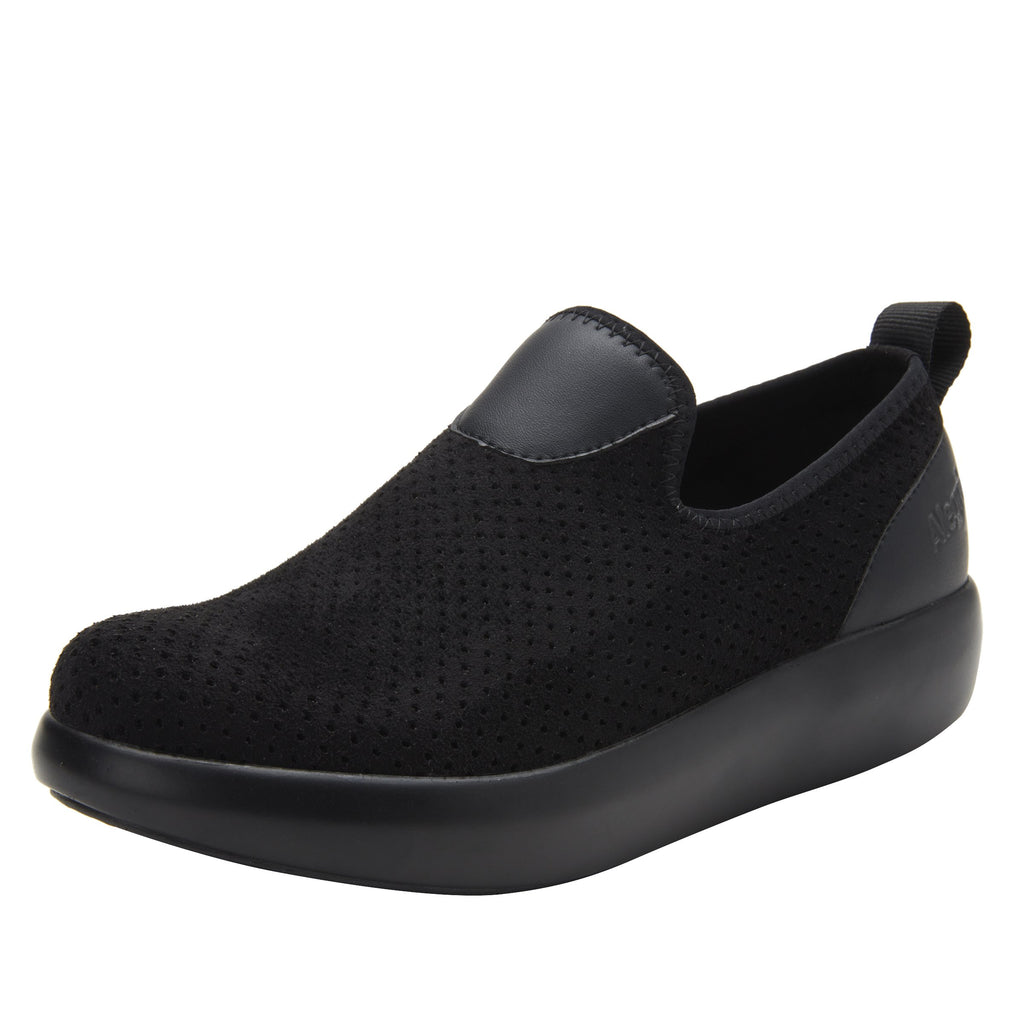 Eden Black Flow Dream Fit™ upper slip on style shoe with non-flexing rocker outsole - EDE-7860_S1