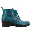 Eliza Teal Tooled Boot - Alegria Shoes - 2