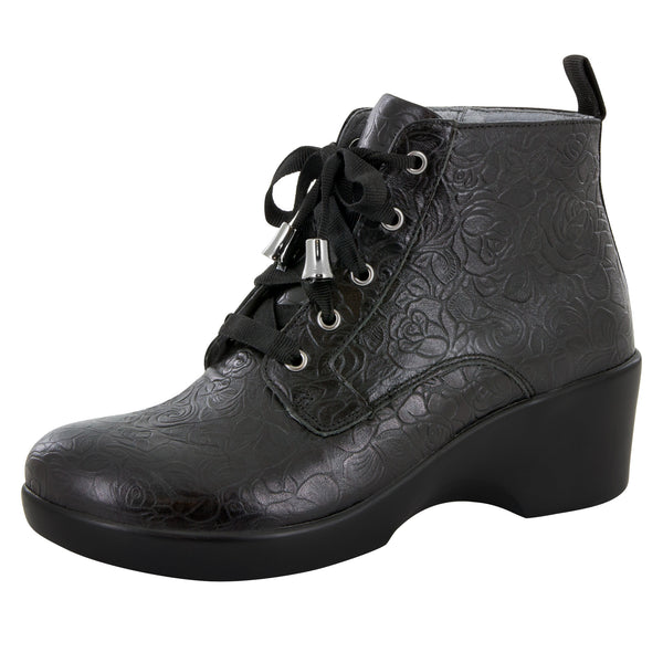 Eliza Black Bloom Boot - Alegria Shoes - 1