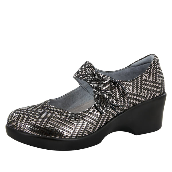 Ella Pewter Dazzler Shoe - Alegria Shoes - 1