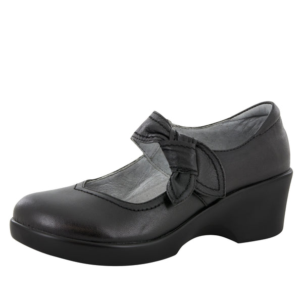 Ella Black Nappa Shoe - Alegria Shoes